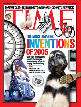 Snuppy on the cover of TIME in 2005