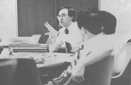Professor Kim in 1977 at an international conference held in Japan