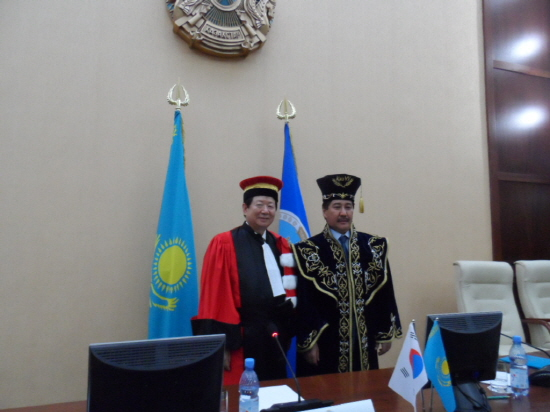President Sung and President Galimkair Mutanov